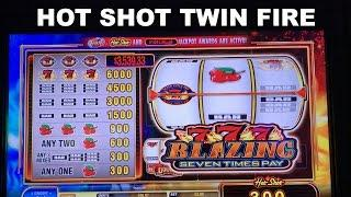 HOT SHOT TWIN FIRE Live Play with many features BALLY Slot Machine