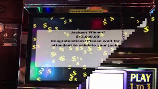 "Choctaw ""FIVE JACKPOTS""  $25 Mr. Money Bags VGT Slots JB Elah Slot Channel"