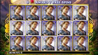 IGT Golden Goddess Video Slot Small Full Screen Win