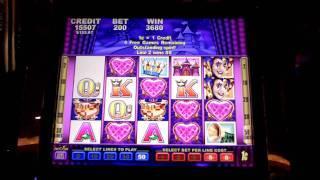 Harlequin Hearts slot bonus win at Parx Casino