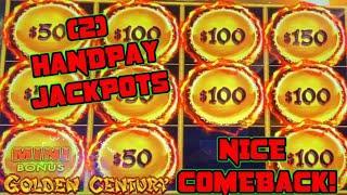 HIGH LIMIT Dragon Link GOLDEN CENTURY (2) HANDPAY JACKPOTS ⋆ Slots ⋆$50 Bonus Slot Machine NICE COME