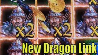 •NEW DRAGON LINK !! •GENGHIS KHAN Slot (Aristocrat) $135 Free Play Live Play•San Manuel•彡栗スロ
