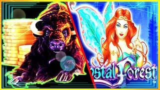 • BUFFALO GOLD 4 COIN TRIGGER • CRYSTAL FOREST • MAX BET • BONUS • SLOT MACHINE •