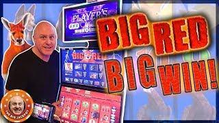 20 Free Games! •️3 BONU$ ROUND$ •Big Win on Big Red!   The Big Jackpot