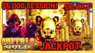 ★ Slots ★️ HIGH LIMIT Buffalo Gold HANDPAY JACKPOT ★ Slots ★️$90 SPINS FOR ENTIRE SESSION Slot Machi