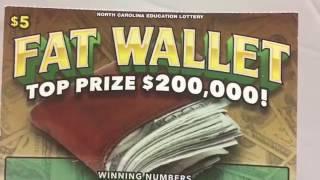 Fat Wallet NC Lottery Scratch off ticket