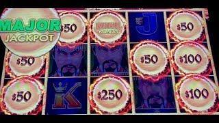 DRAGON LINK •GOLDEN CENTURY (8) HANDPAYS $50 SPINS •SLOT MACHINE •MOHEGAN SUN MAJOR JACKPOT