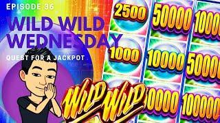 ⋆ Slots ⋆WILD WILD WEDNESDAY!⋆ Slots ⋆ QUEST FOR A JACKPOT [EP 36] ⋆ Slots ⋆ WILD WILD PEARL Slot Machine (Aristocrat)