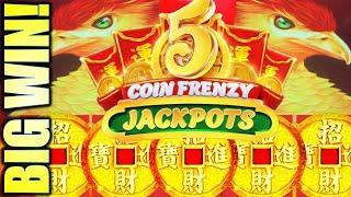 ⋆ Slots ⋆SUPER BIG WIN!⋆ Slots ⋆ WOW!! FRENZY MODE! 5 COIN FRENZY JACKPOTS (EIGHT PHOENIX) Slot Machine (Aristocrat)
