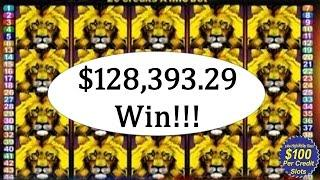 $128,000 Thousand Dollar Slot Win High Limit Vegas Casino Video Slots Handpay Jackpot Aristocrat, IG