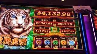 MIGHTY CASH: LONG TENG HU XIAO ~ Back To Back Bonuses ~ Live Slot Play @ San Manuel