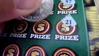 $10 Illinois Instant Lottery Scratchcard Video - 100X the Cash