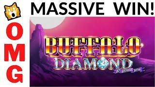 THEY WERE SHOCKED!  HUGE MASSIVE WIN on BUFFALO DIAMOND SLOT POKIE  -  SAME MACHINE DIFFERENT DAY!