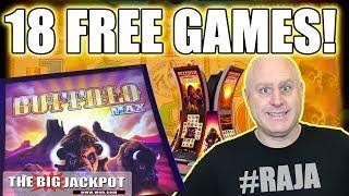 18 Free Games! •NEW GAME Buffalo Max Slots •  The Big Jackpot