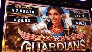 NEW Sacred Guardians Slot Bonuses BIG WIN - Aristocrat