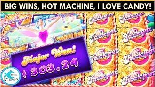 BIG WINS! Sugar Hits Slot Machine - Major Progressive on Hot Machine!