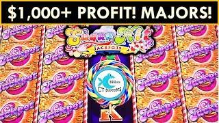 $1,000+ PROFIT! *MULTIPLE MAJOR JACKPOTS* - Sugar Hits Slot Machine