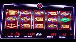 QUICK HITS slot machine bonus 24 Karat Wild ~ BIG WIN!