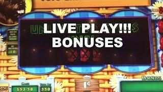 LIVE PLAY on Wizard of Oz Road to Emerald City Slot Machine with Bonuses