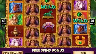 TIGER TEMPTRESS Video Slot Casino Game with a TIGER TALES FREE SPIN BONUS