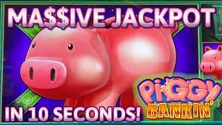 HIGH LIMIT Lock It Link Piggy Bankin' MASSIVE HANDPAY JACKPOT ⋆ Slots ⋆$50 Bonus Round Slot Machine Casino