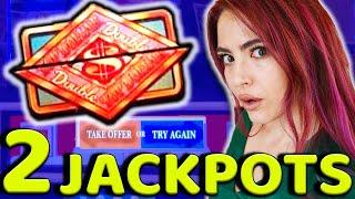 2 JACKPOTS in the HIGH LIMIT ROOM on TOP DOLLAR at HARD ROCK in TAMPA up to $200/SPINS!