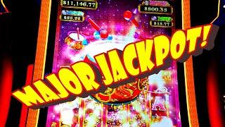 MOM GOES CRAZY WITH $5 BETS AND GETS THE MAJOR JACKPOT!!!! -- Dancing Drums Prosperity Slot Machine