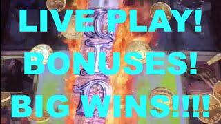 Big Wins!!! LIVE PLAY on Game of Thrones Slot Machine with Bonuses