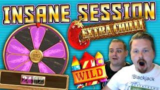 Nerve Wracking Extra Chilli Session with a lot of 24 spins and Big Wins.