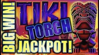 •JACKPOT HANDPAY!!• $9.00 BET! TIKI TORCH  UPPING THE BET! Slot Machine Bonus (Aristocrat)