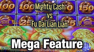 FU DAI LIAN LIAN DRAGON VS MIGHTY CASH DRAGON SLOT !!! LIAN PANDA JOINS IN !! HUGE WINS !!!