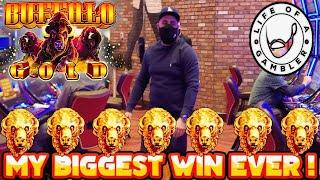 **MUST SEE** MY BIGGEST HANDPAY JACKPOT EVER!! on WONDER 4 BUFFALO GOLD. BUFFALO CHIEF & FIRE LINK
