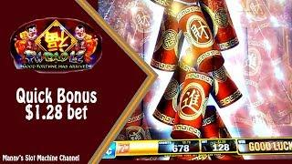 Fu Dao Le by Bally Quick Bonus on a $1.28 bet at Barona Casino in Lakeside  CA