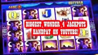 • BIGGEST WONDER 4 JACKPOTS HANDPAY ON YOUTUBE • MAX BET • MASSIVE INSANE HANDPAY! •