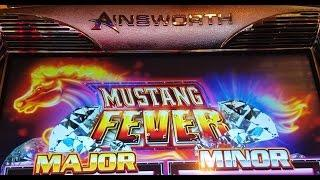*Mustang Fever* Back to Back Bonuses  live play