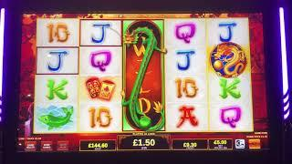 Live play on dragons temple at £5 max bet decent win
