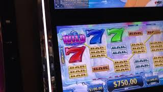 VGT Slots Polar High Roller 20 Lines Red Screen Red Spins $100 Max Handpay Choctaw Gambling Casino