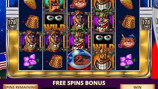 FREAKI TIKI 2 Video Slot Game with FREAKI TIKI FREE SPIN BONUS
