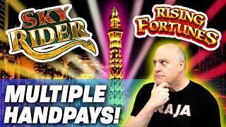 ★ Slots ★ Multiple HANDPAYS on The LAS VEGAS STRIP ★ Slots ★ Rising Fortunes + Sky Rider!