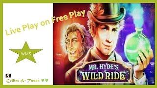 •Live Play on Free Play•  WMS Mr. Hyde's Wild Ride • Live Bonus