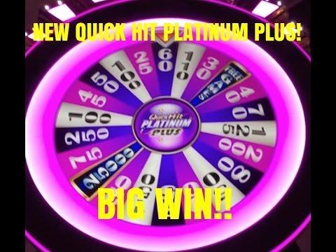BIG WIN! NEW! QUICK HIT PLATINUM PLUS SLOT MACHINE