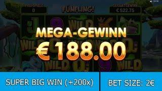 SUPER BIG WIN on Dragonz Slot (Microgaming) - Gobble's Winning Wilds - 2€ BET!