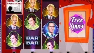 MAD MEN: HIGH STAKES Video Slot Casino Game with a HIGH STAKES FREE SPIN BONUS