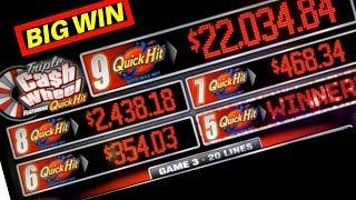•BIG WIN• Quick Hits Cash Wheel Slot Machine MAX BET Bonuses | Live Slot Play w/NG Slot