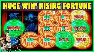 WIFE'S MAGIC TOUCH LEADS TO HUGE WIN! | RISING FORTUNE SLOT MACHINE |