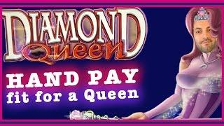 HAND PAY fit for a Queen! • HIGH LIMIT Diamond Queen • Slot Machine Pokies in Las Vegas