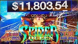 Spider Queen, Class II Slot Machine, Live Play & Bonus