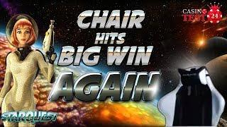 CHAIR HITS BIG WIN AGAIN ON STAR QUEST SLOT (BTG) - 2€ BET!