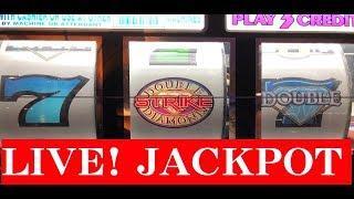 LIVE•Handpay Jackpot • Double Diamond STRIKE - Max Bet $3 @ Pechanga Resort Casino