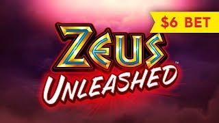 Zeus Unleashed Slot - NICE SESSION, ALL FEATURES - $6 Max Bet!